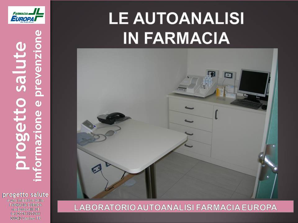 Le autoanalisi in farmacia
