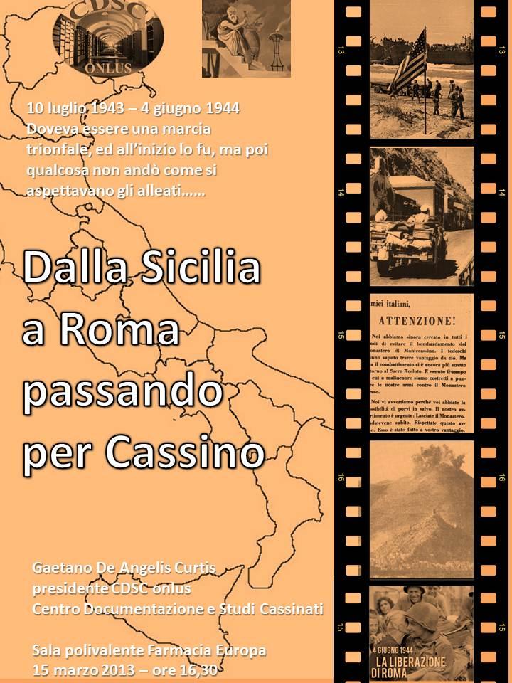 dalla sicilia a roma - locandina