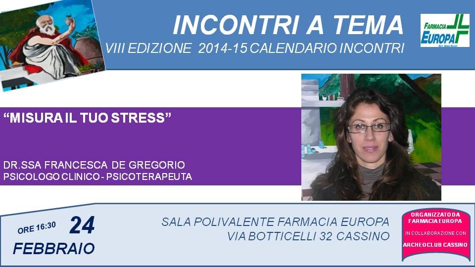 programma 2014-5 - 10 DE GREGORIO