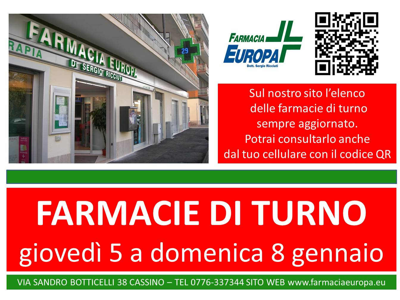 farmacie di turno 5 8 gen 2017